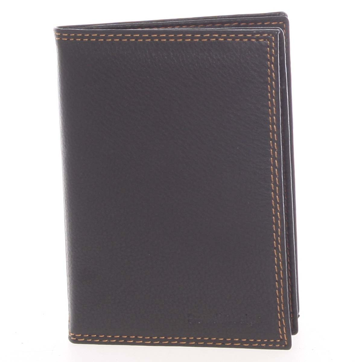 Luxusná pánska kožená čierna prešívaná dokladovka - SendiDesign Rhesus