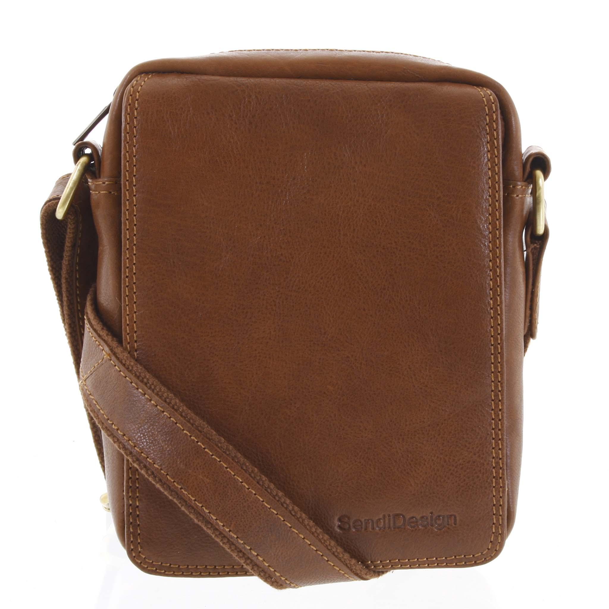 Pánska kožená taška hnedá - SendiDesign Merlim