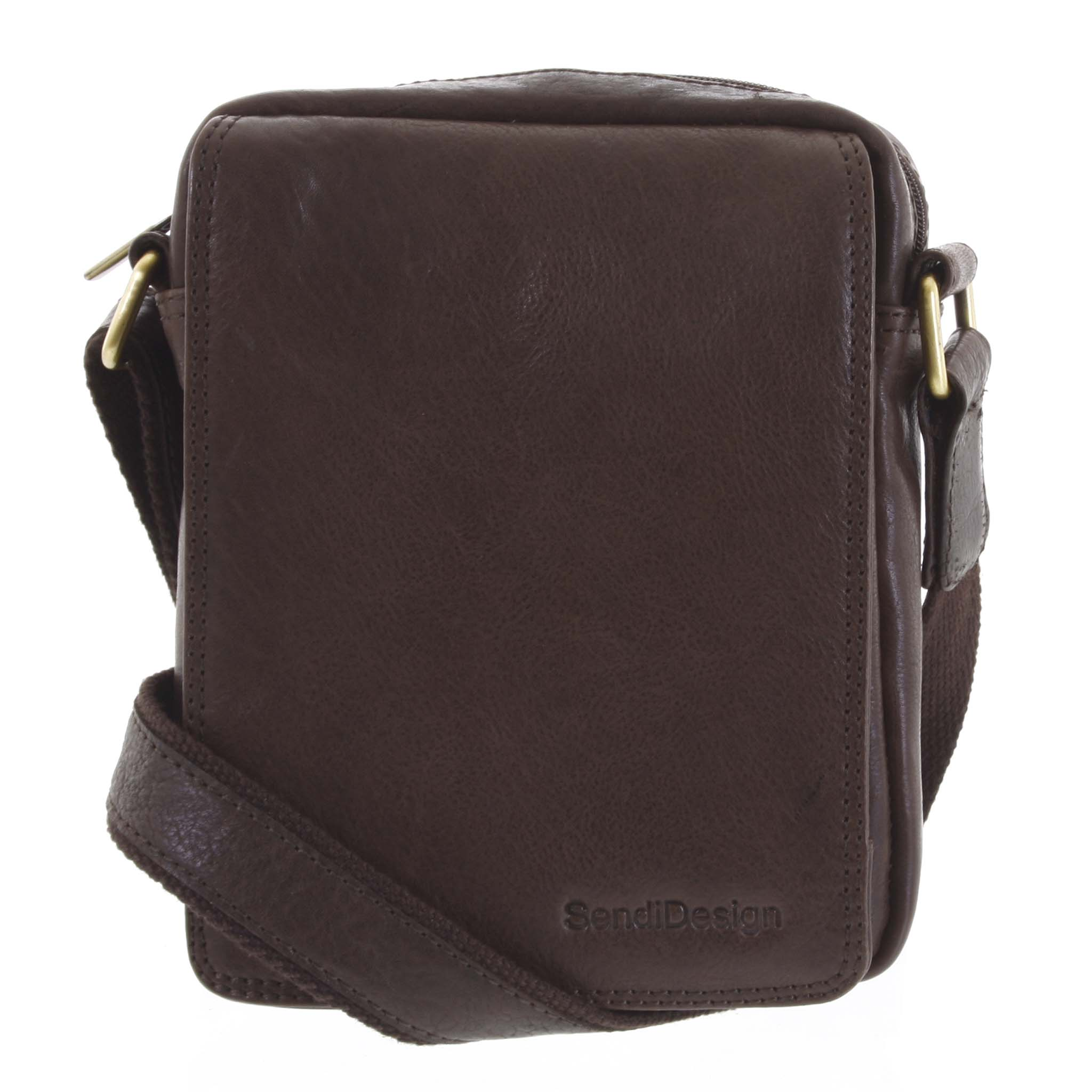 Pánska kožená taška tmavohnedá - SendiDesign Merlim