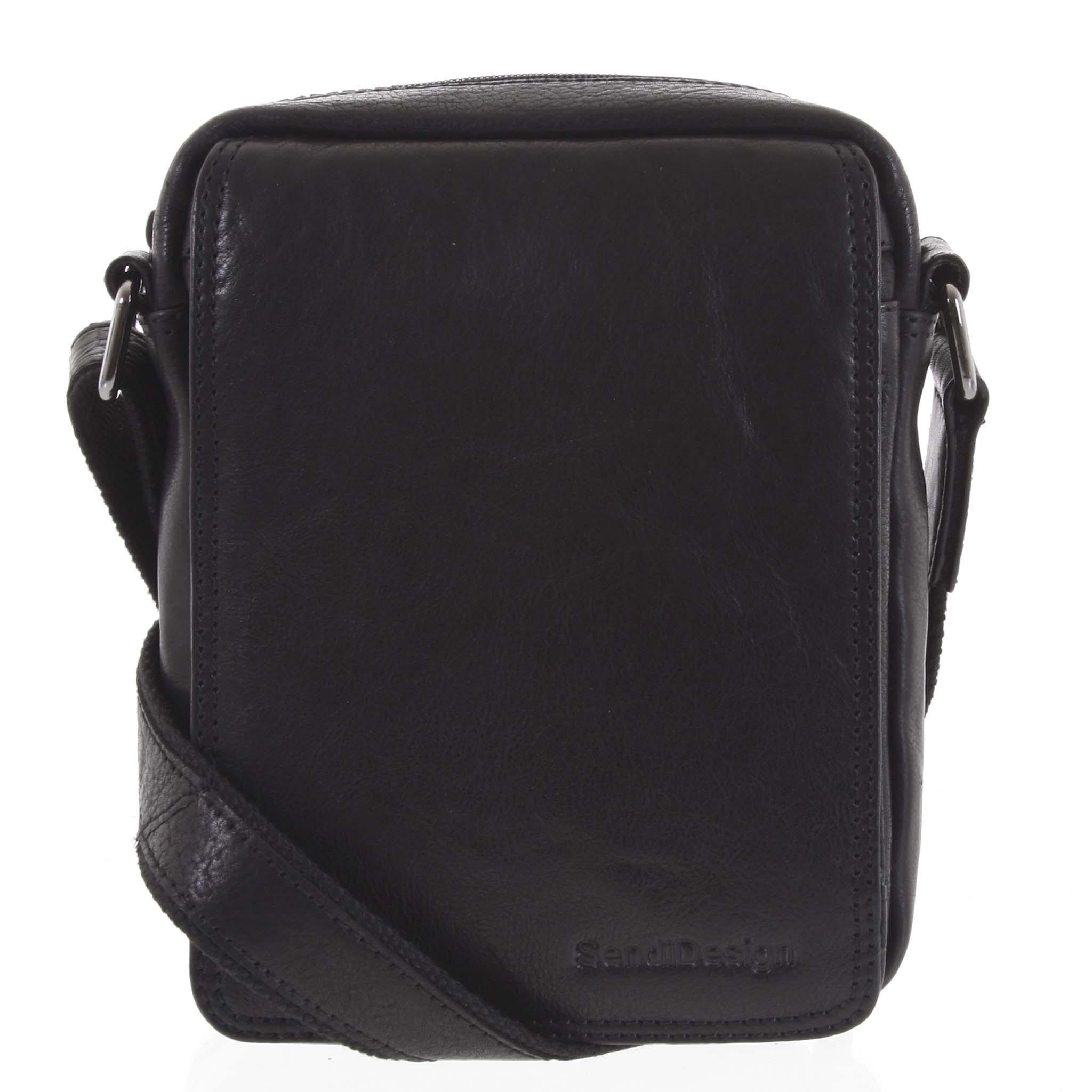 Pánska kožená taška čierna - SendiDesign Merlim
