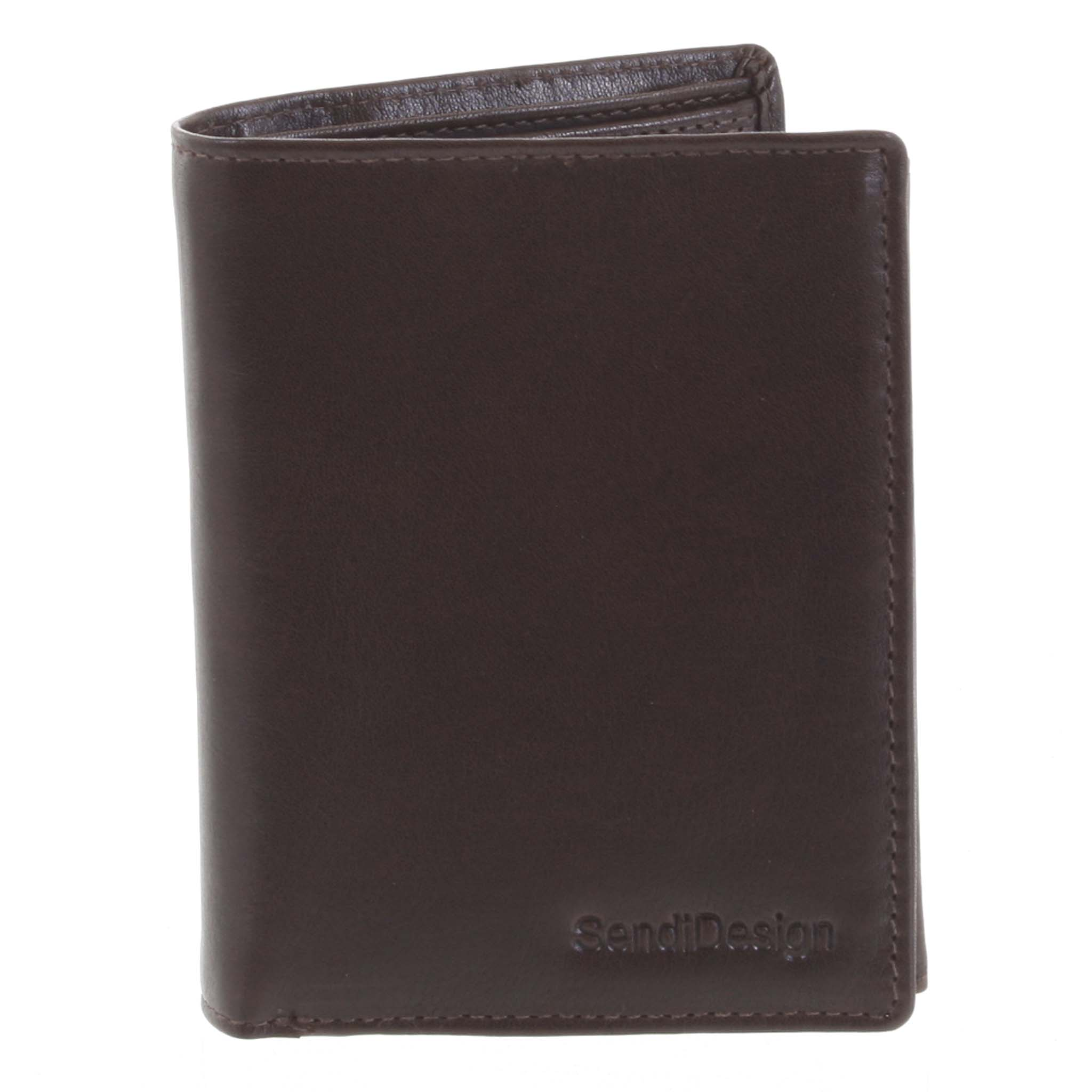 Pánska kožená peňaženka tmavohnedá - SendiDesign Benny