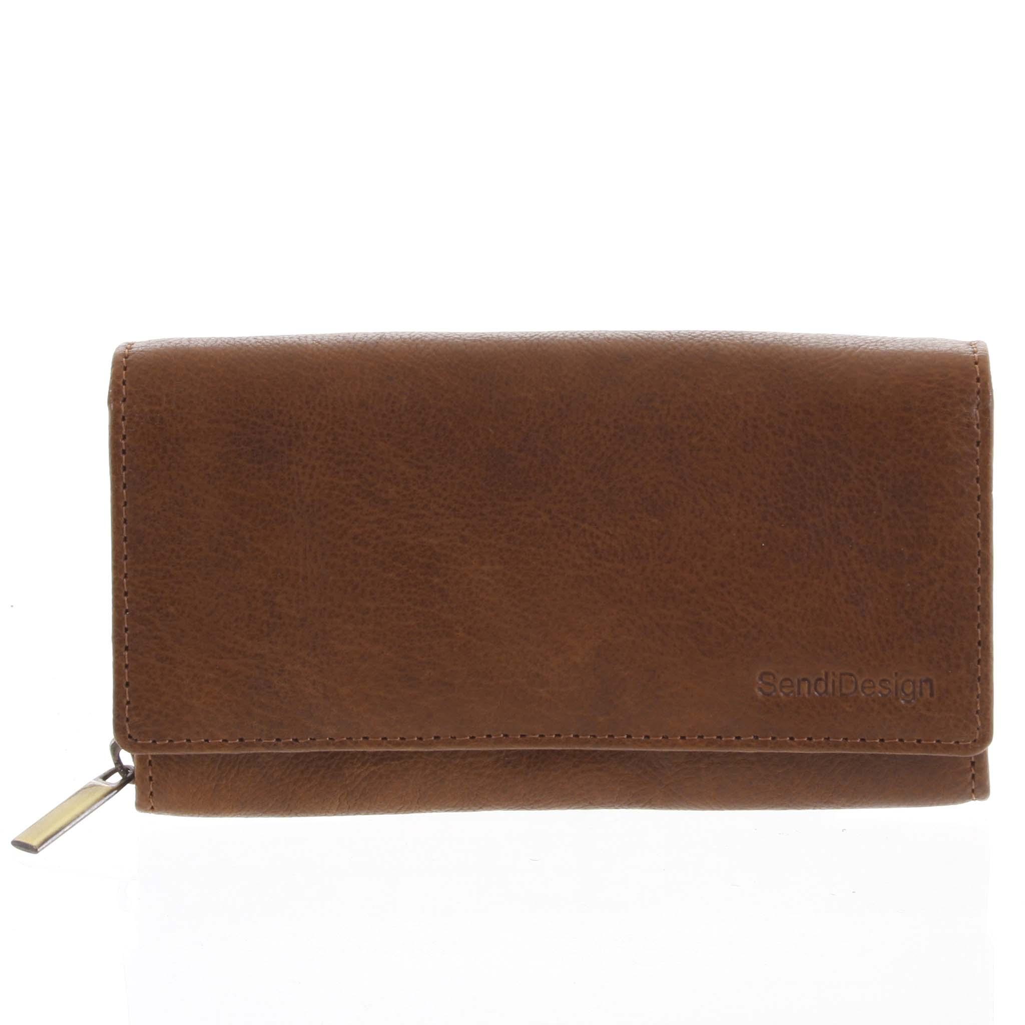 Dámska kožená peňaženka svetlohnedá - SendiDesign Zimbie