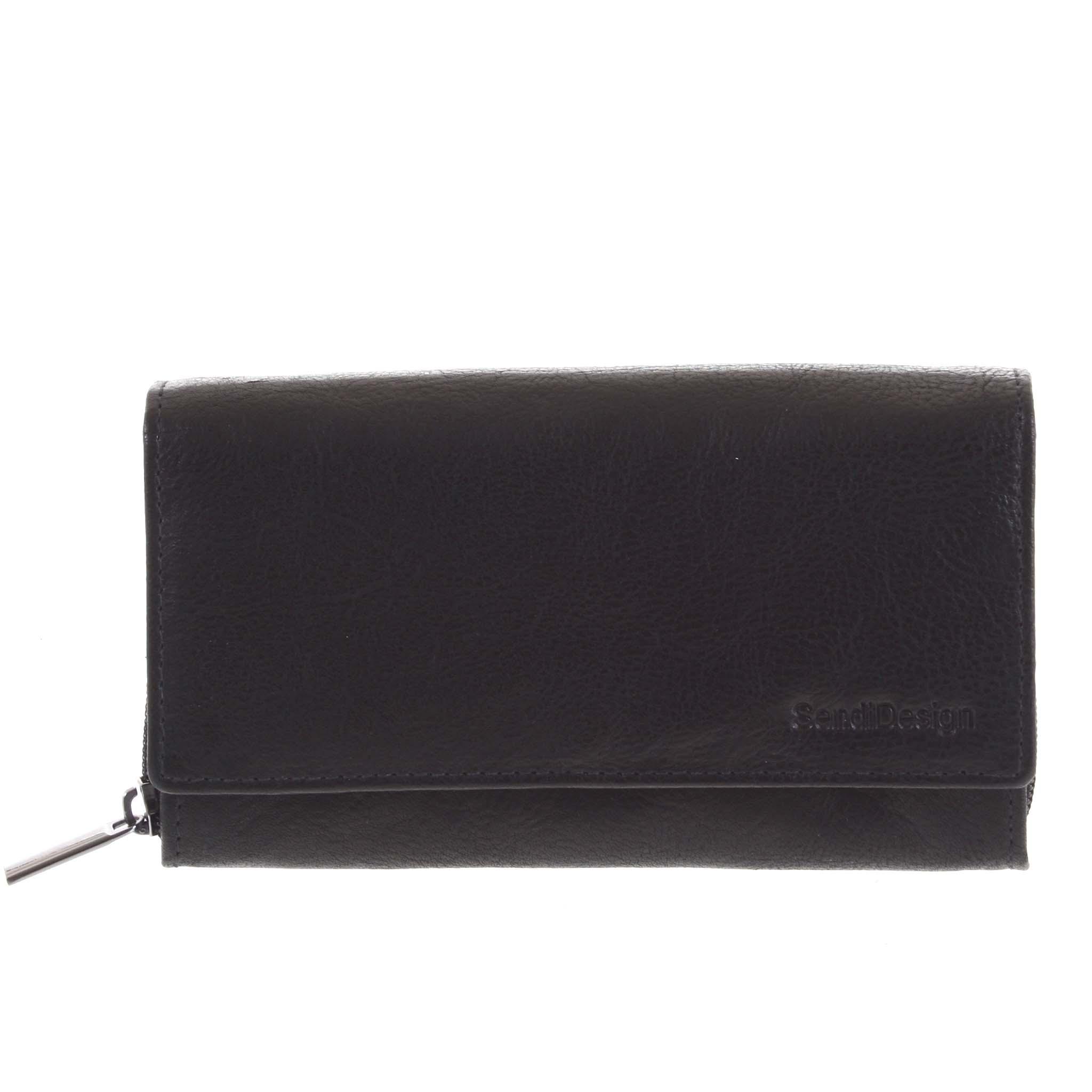 Dámska kožená peňaženka čierna - SendiDesign Zimbie