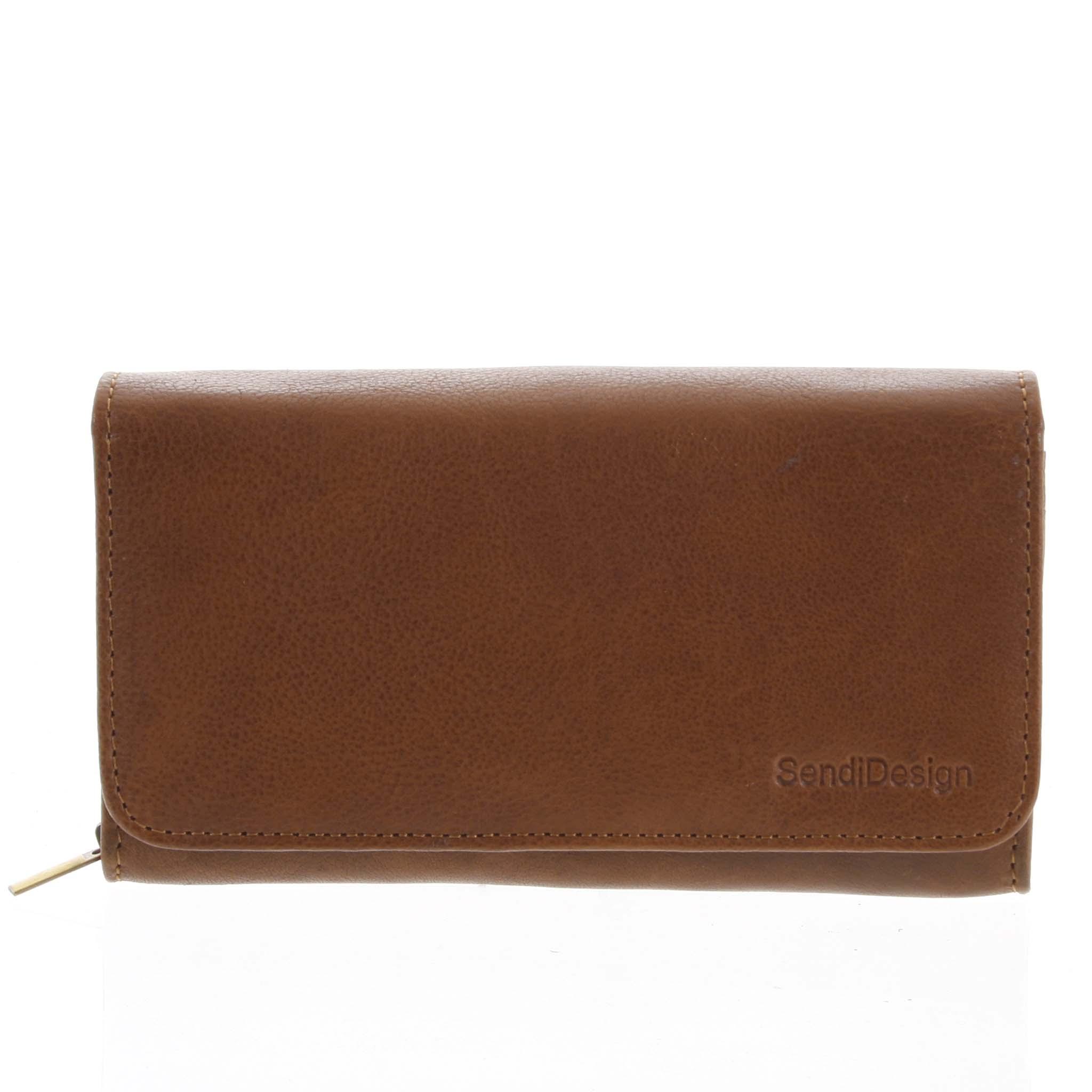 Dámska kožená peňaženka svetlohnedá - SendiDesign Really