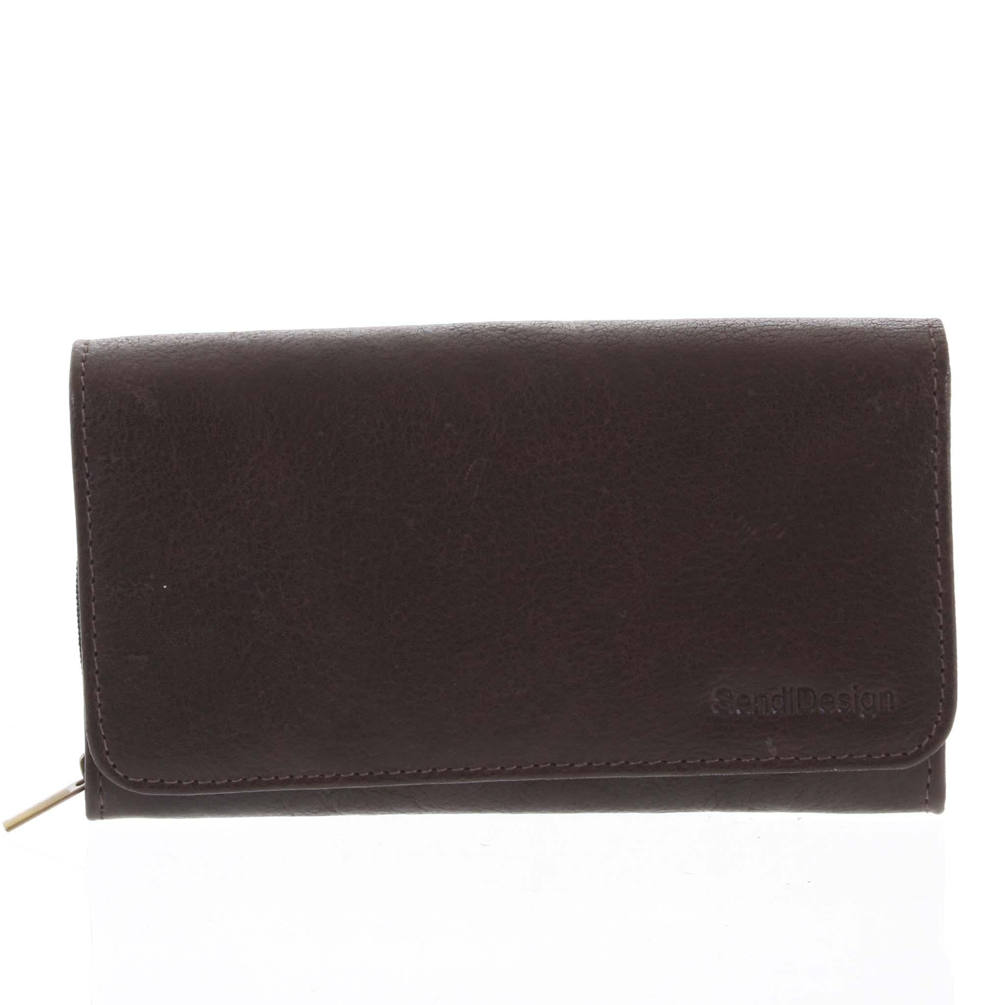 Dámska kožená peňaženka tmavohnedá - SendiDesign Really