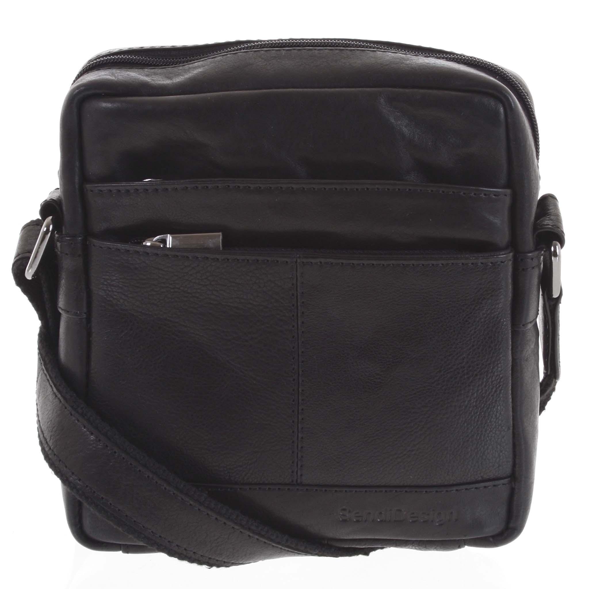 Pánska kožená taška čierna - SendiDesign Shaper