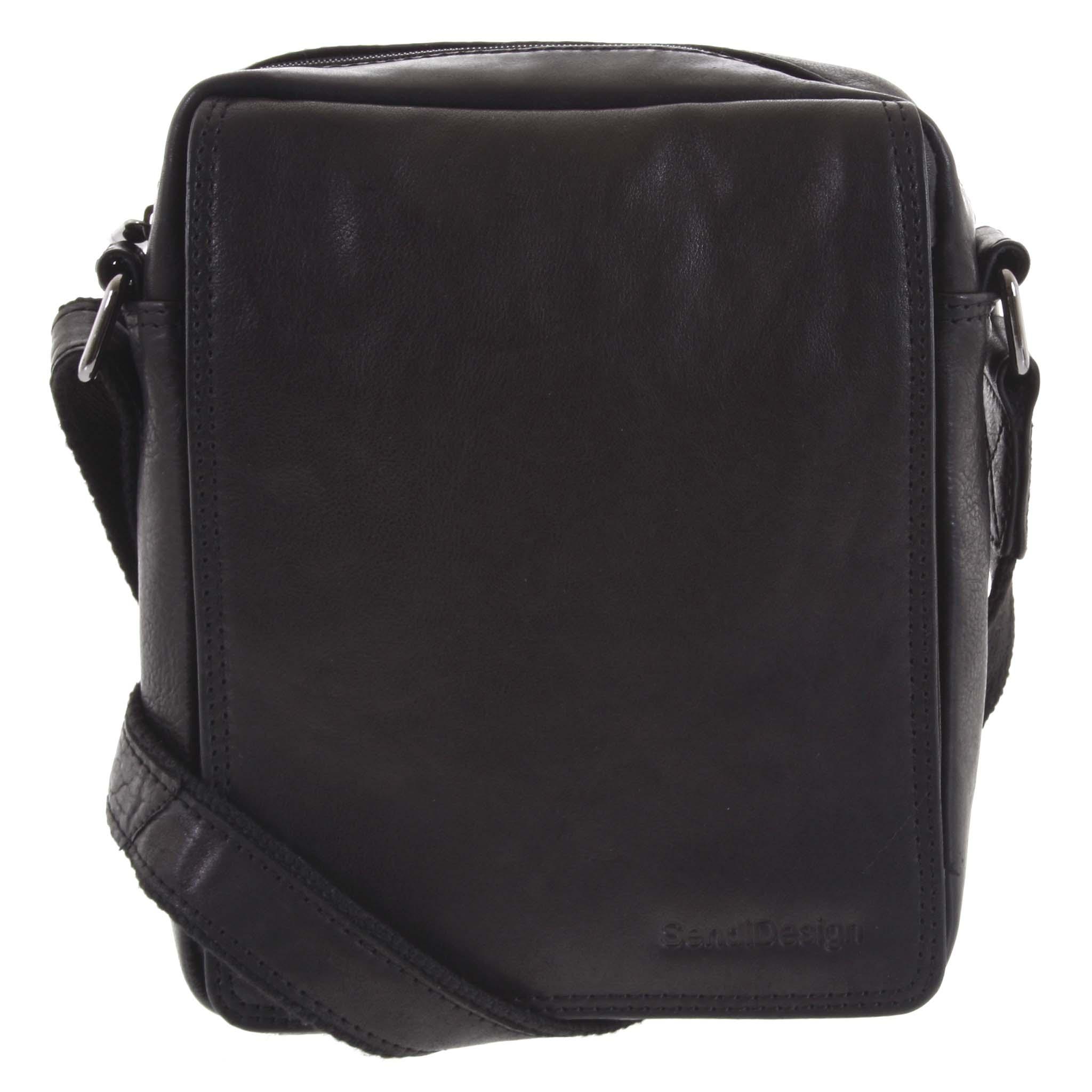 Pánska kožená taška čierna - SendiDesign Lorem