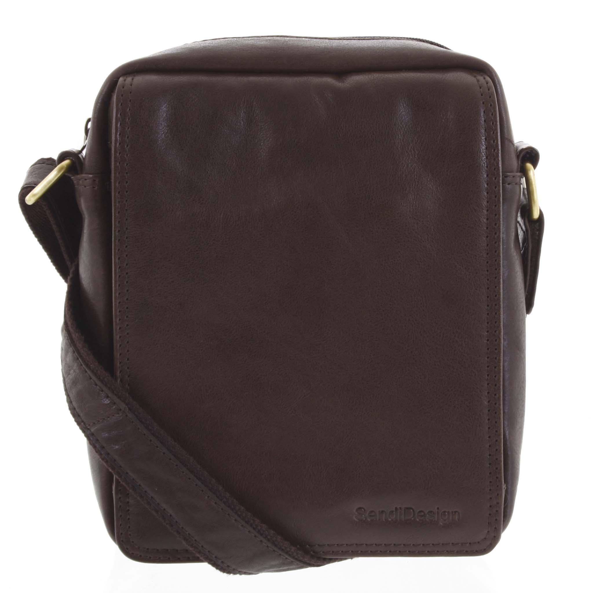 Pánska kožená taška tmavohnedá - SendiDesign Lorem