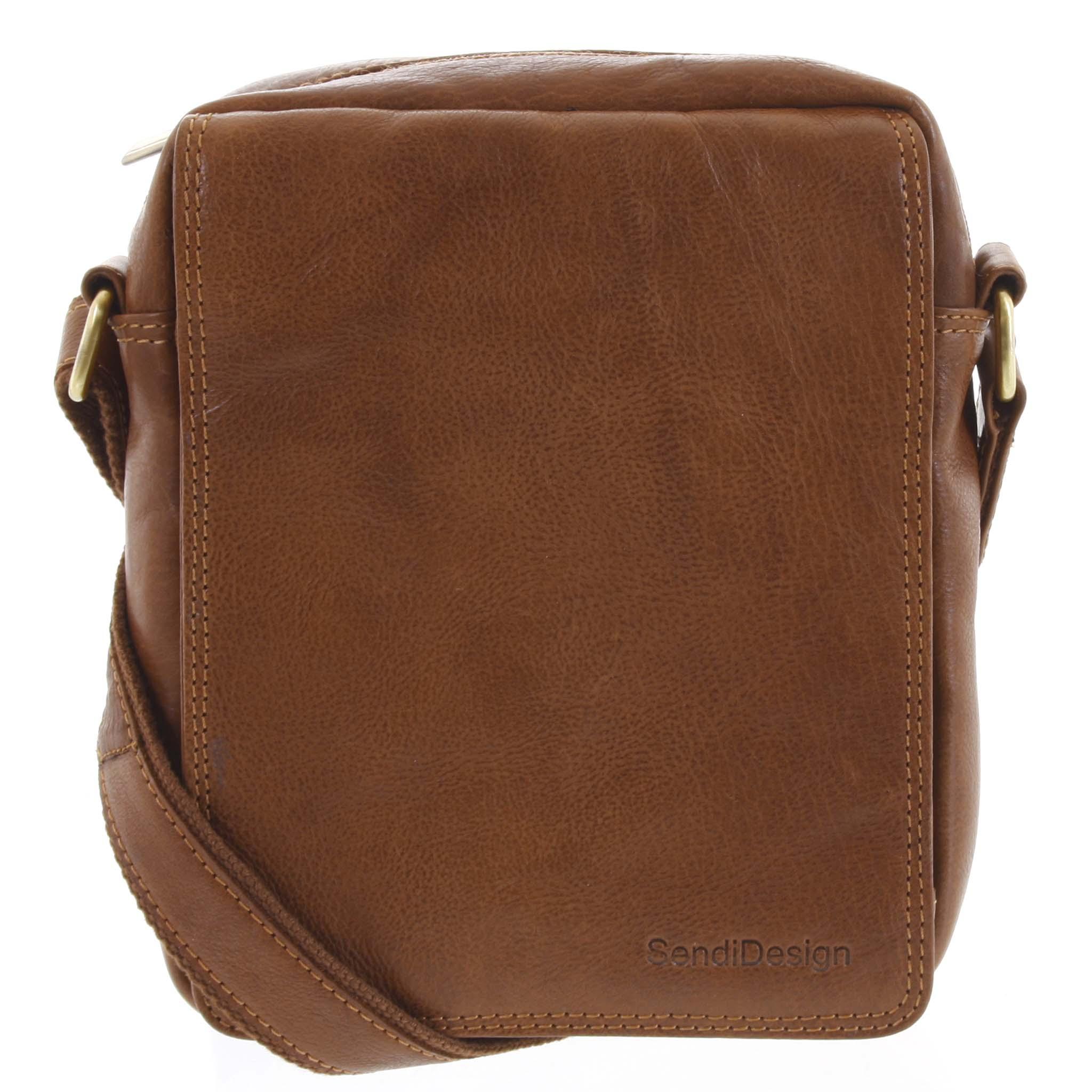 Pánska kožená taška hnedá - SendiDesign Lorem