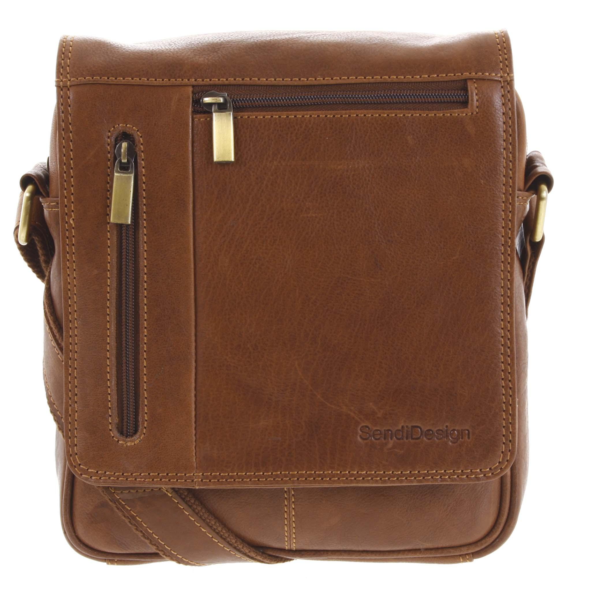 Pánska kožená taška cez hnedá hnedá - SendiDesign Thoreau