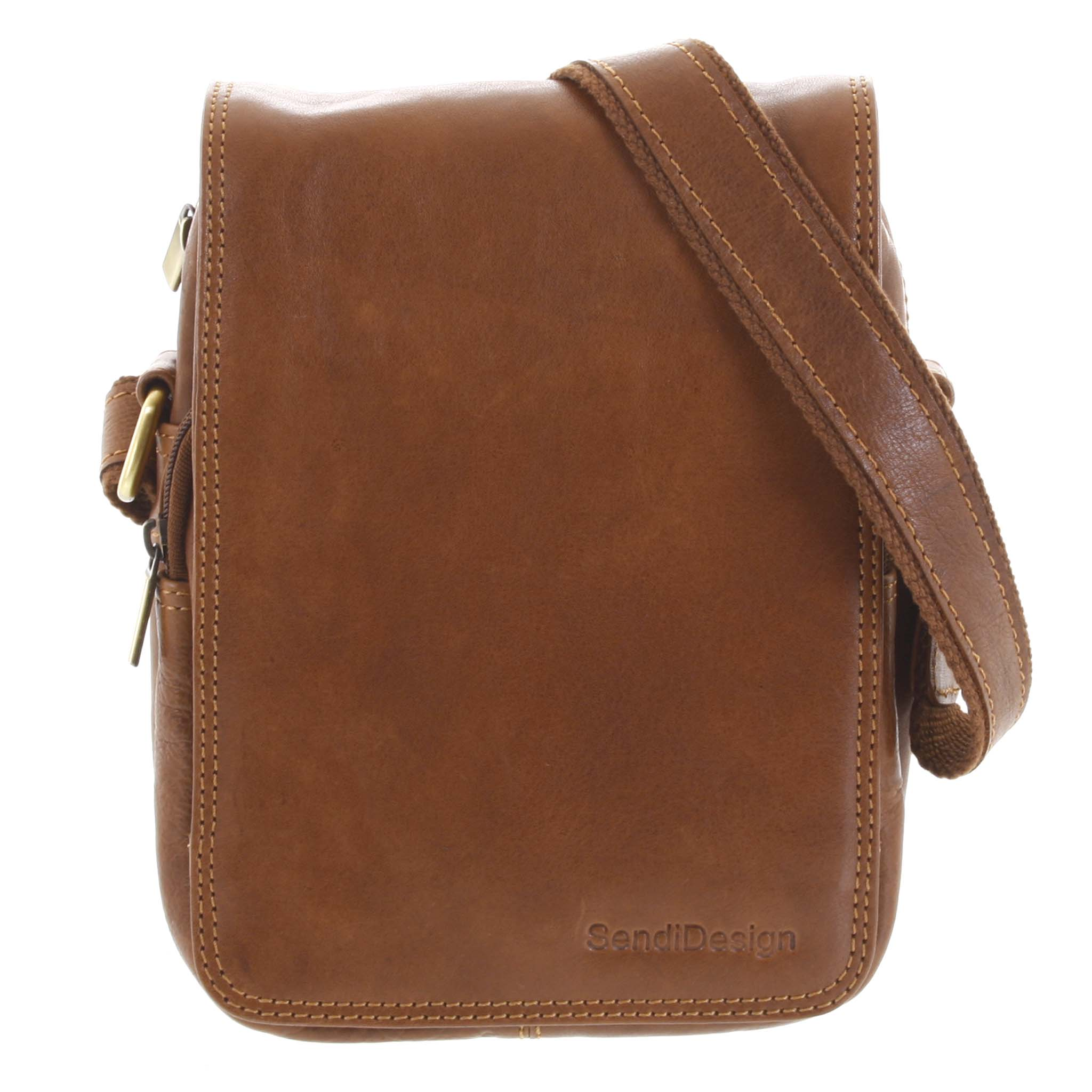 Pánska kožená taška cez rameno hnedá - SendiDesign Muxos