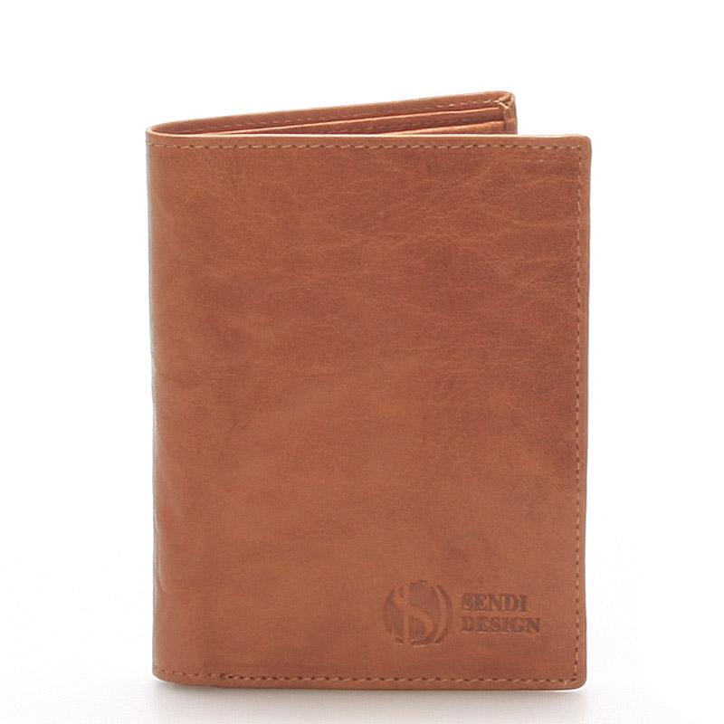 Kvalitná kožená svetlohnedá peňaženka - SendiDesign 45