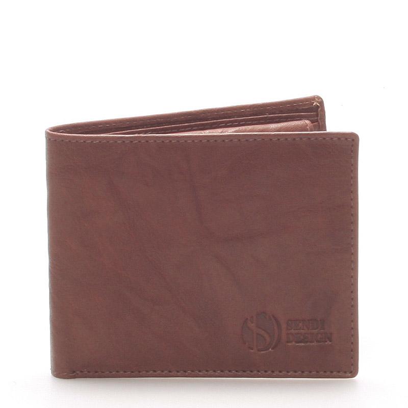 Elegantná kožená hnedá peňaženka - SendiDesign 46