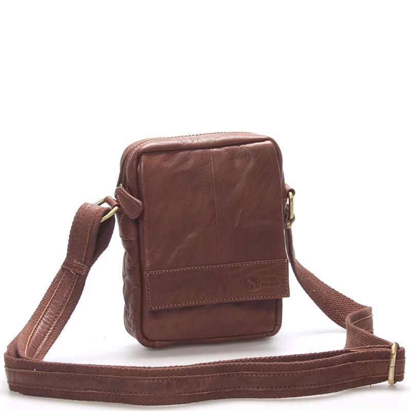 Štýlová kožená taška hnedá - SendiDesign Perth