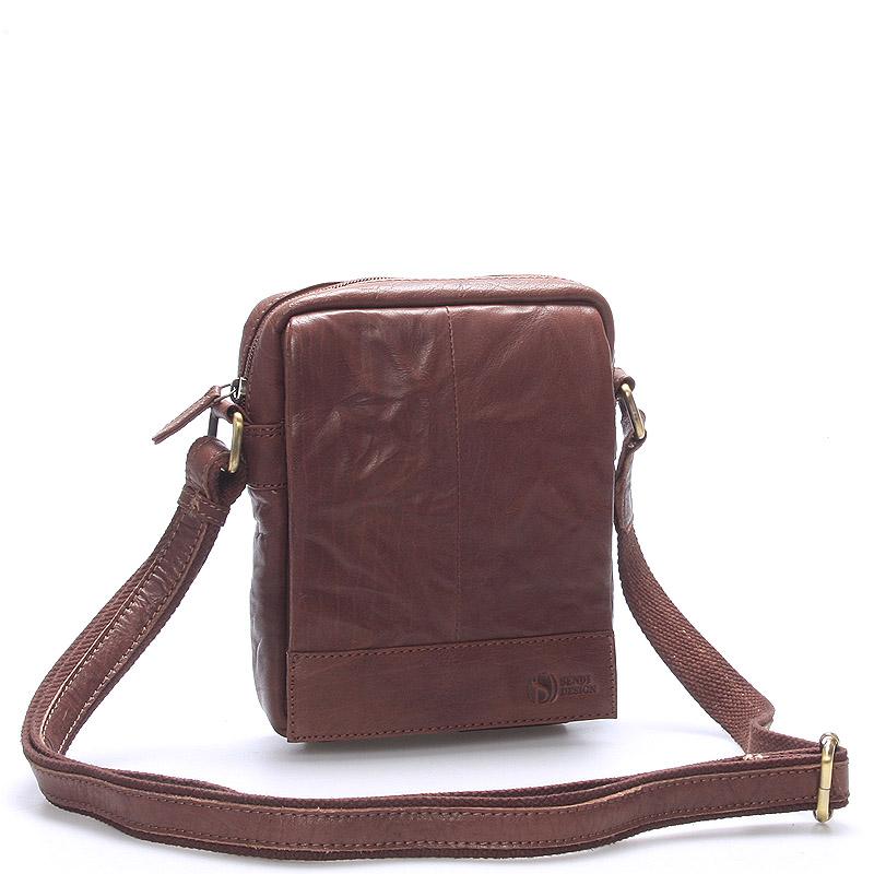 Štýlová kožená taška hnedá - SendiDesign Perthos
