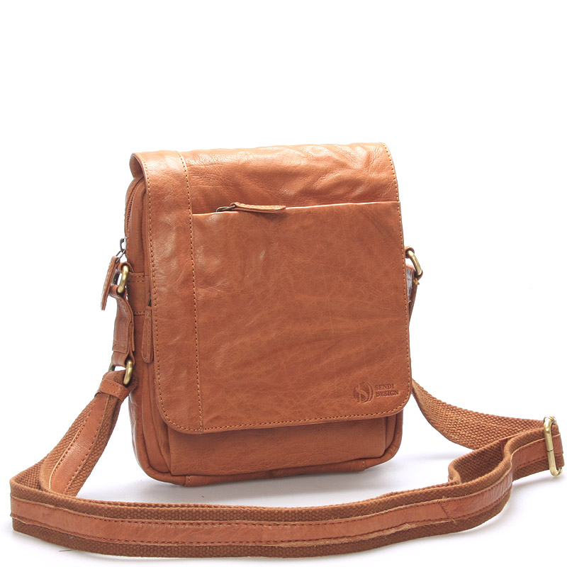 Kvalitná svetlohnedá pánska kožená taška - SendiDesign Appart