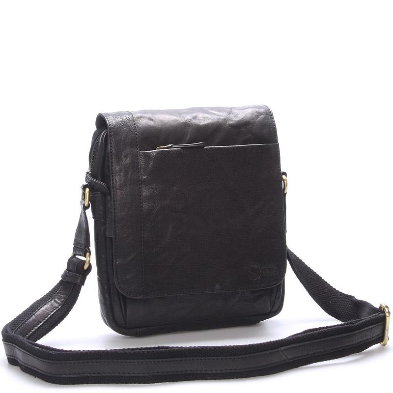 Kvalitná pánska kožená taška čierna - SendiDesign Appart