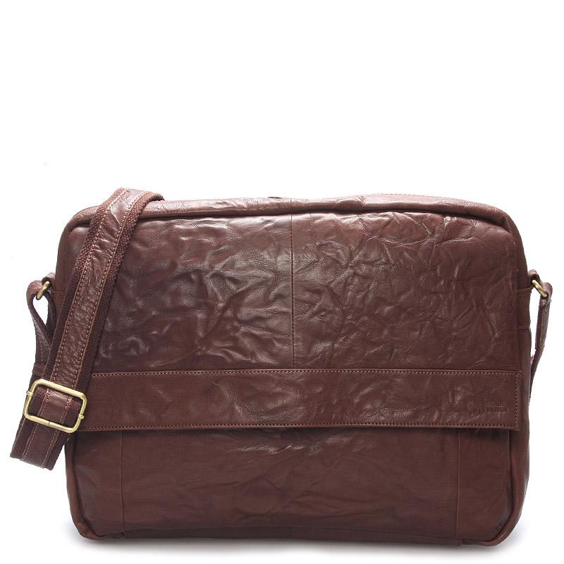 Veľká luxusná pánska kožená taška hnedá - SendiDesign Nethard