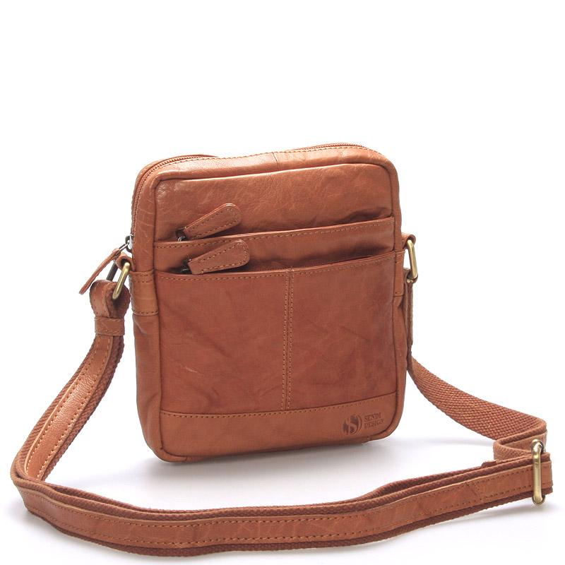 Módna kožená taška svetlohnedá - SendiDesign Flinders