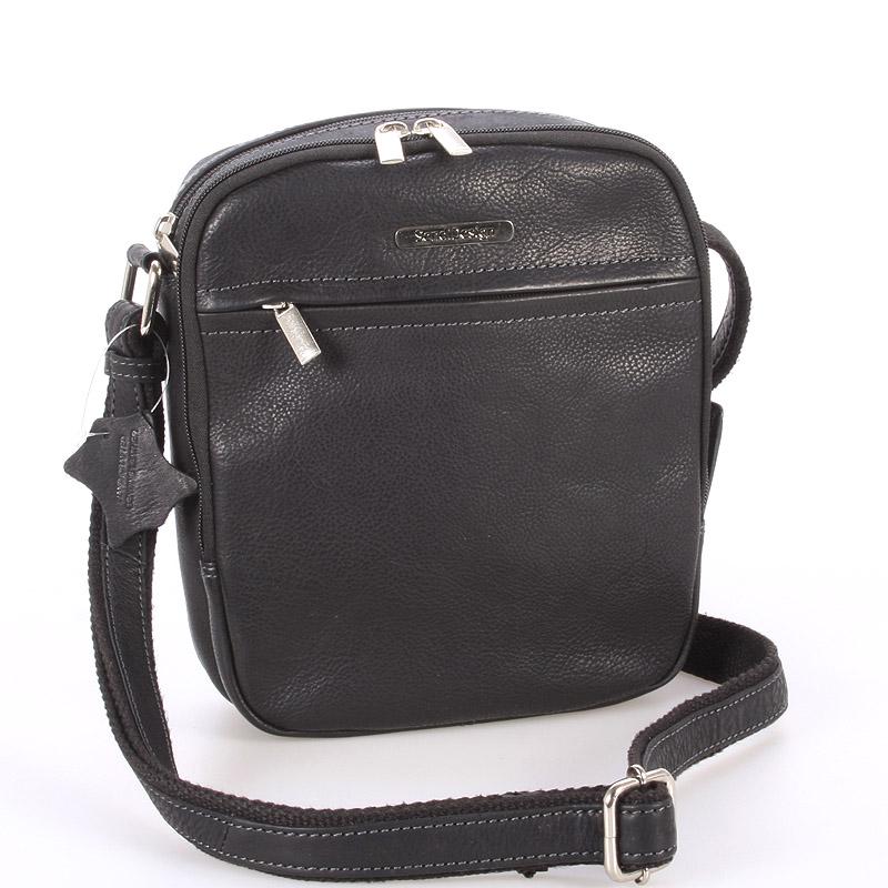 Čierna pánska štýlová kožená taška - SendiDesign Heracles
