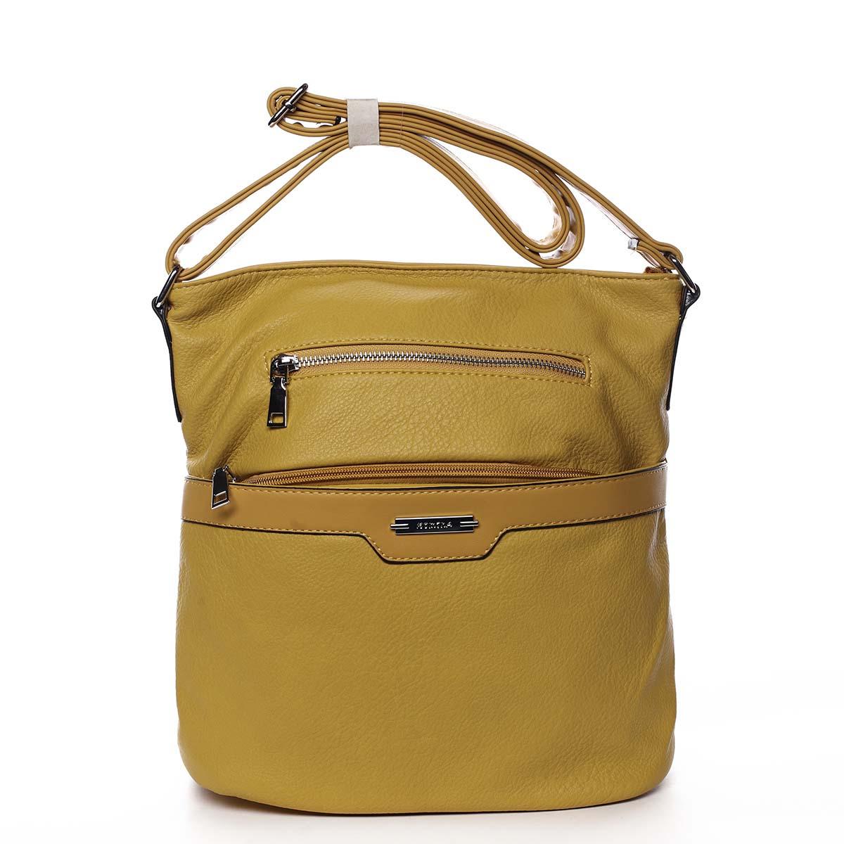 Dámska crossbody kabelka žltá - Romina Elmina