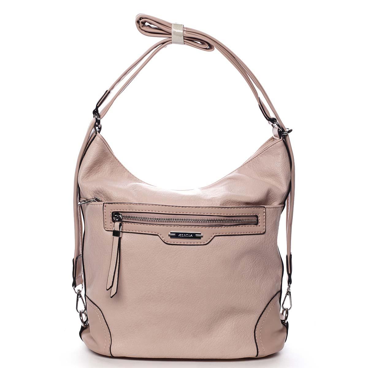 Dámska kabelka batoh ružová - Romina Zilla