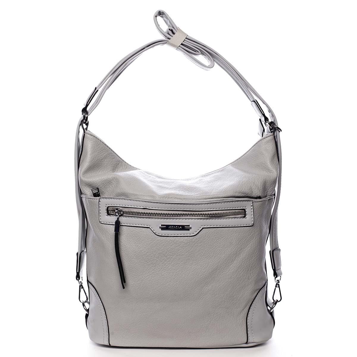 Dámska kabelka batoh svetlo šedá - Romina Zilla