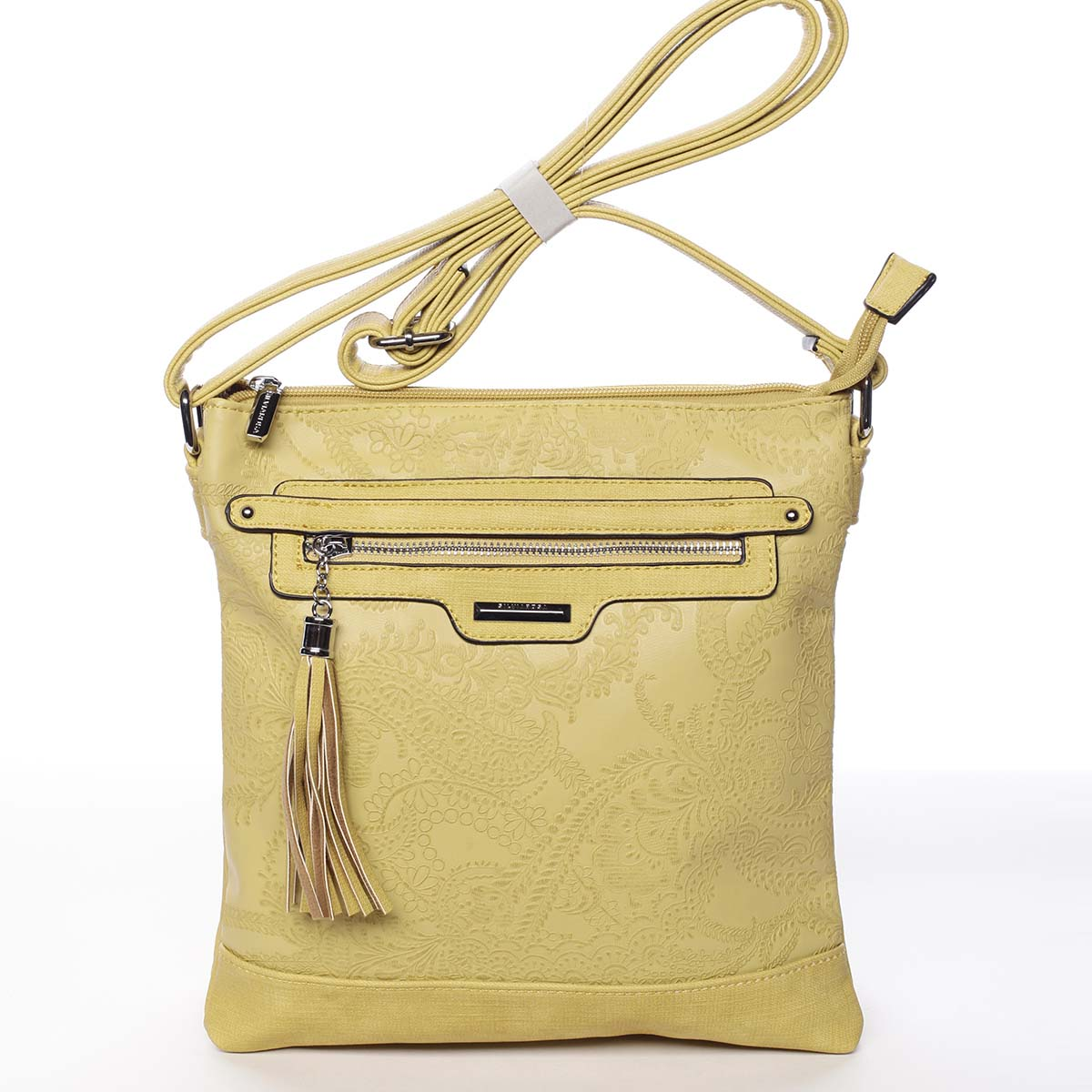 Módna dámska žltá crossbody kabelka so vzorom - Silvia Rosa Gillian