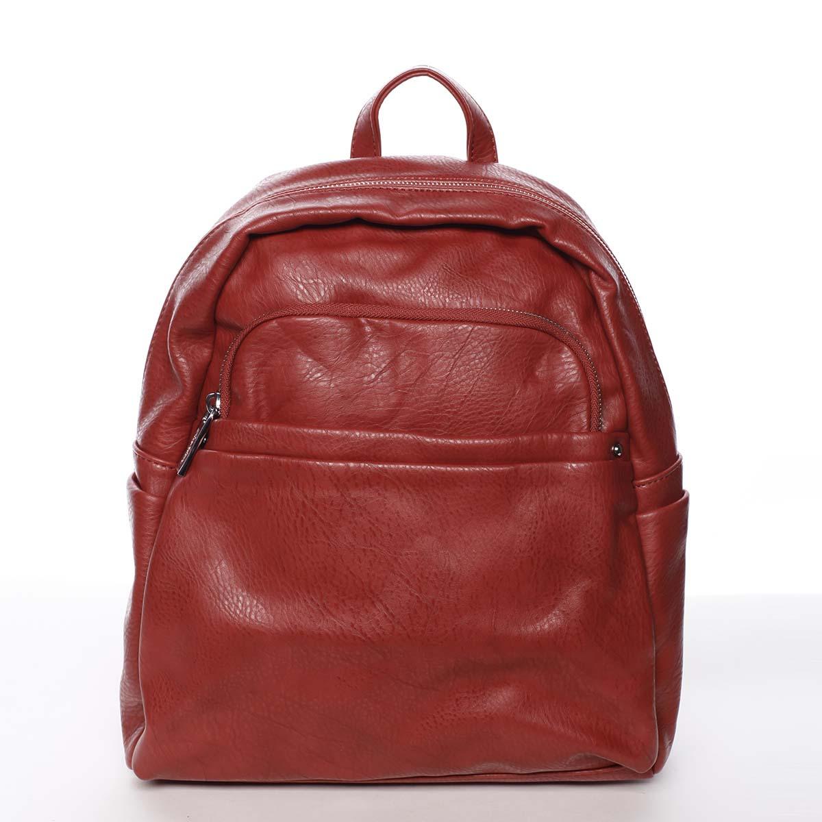 Stredný mestský dámsky červený ruksak - Silvia Rosa Jimm
