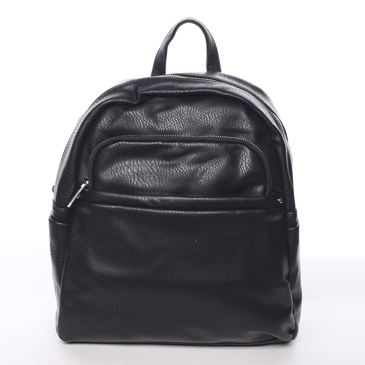 Stredný mestský dámsky čierny ruksak - Silvia Rosa Jimm