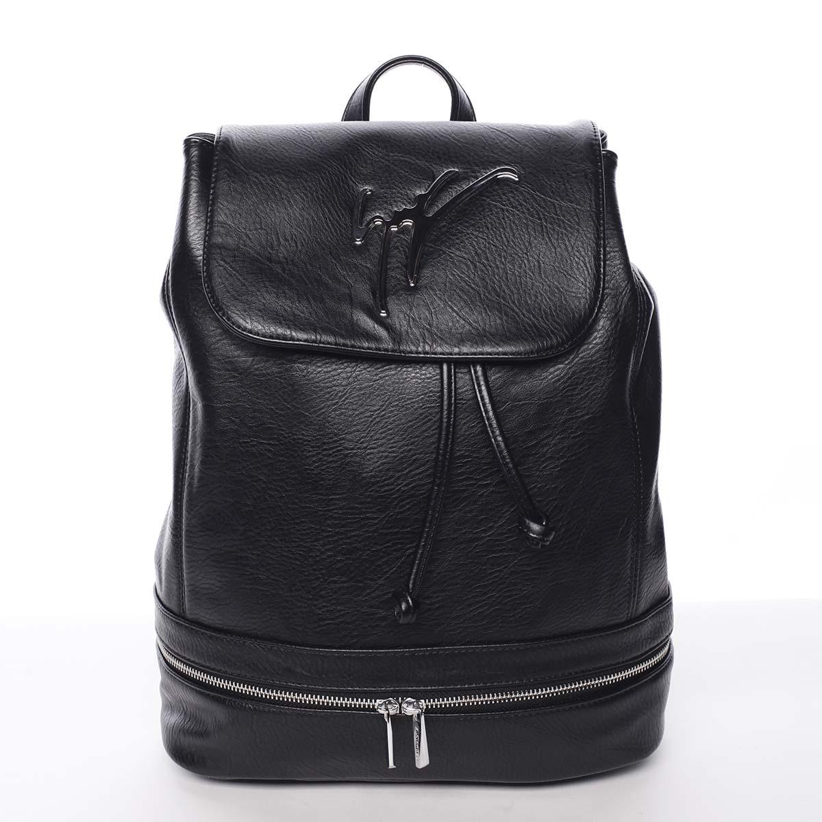 Trendy dámsky mestský ruksak čierny - Silvia Rosa Karely