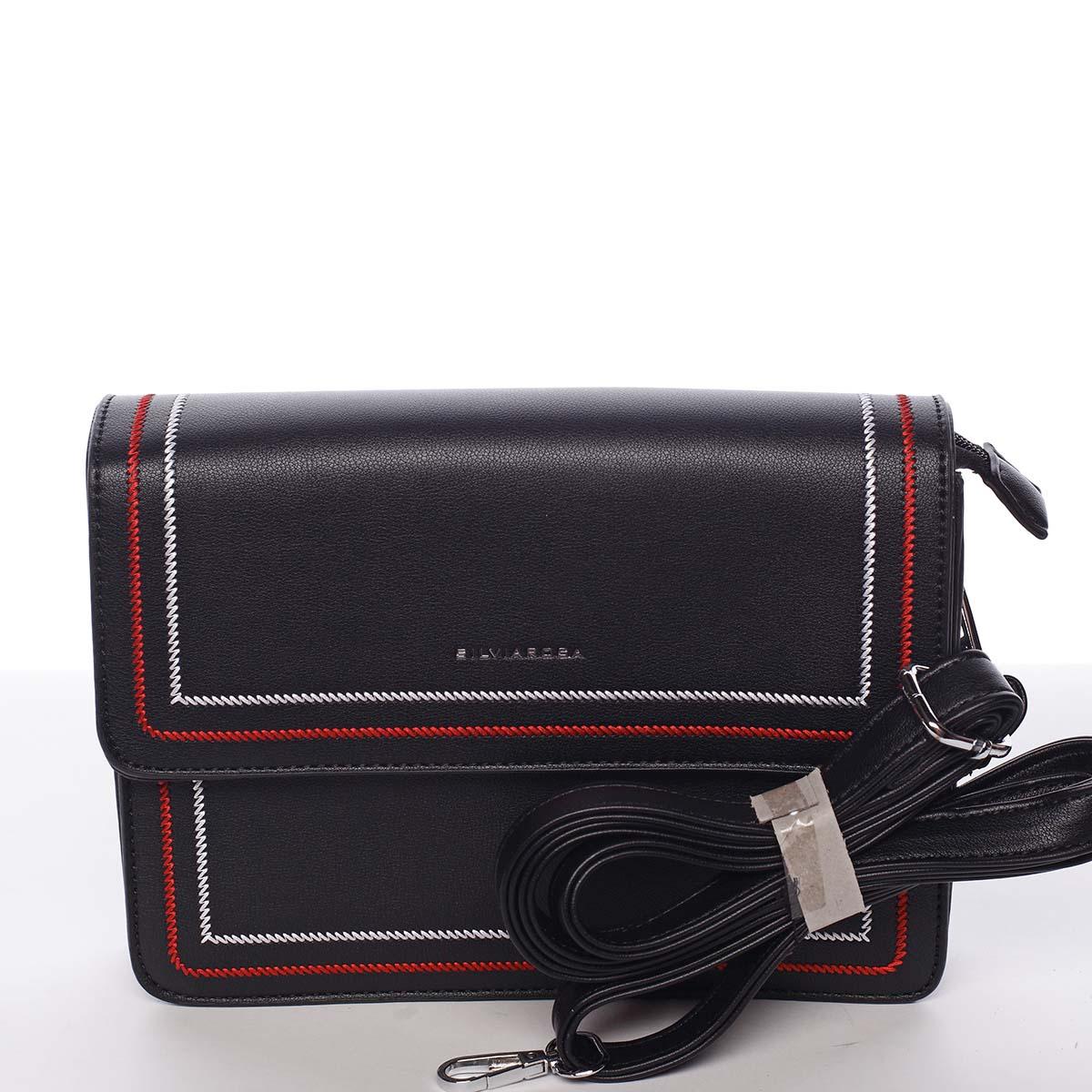 Originálna elegantná crossbody kabelka čierna - Silvia Rosa Cielo