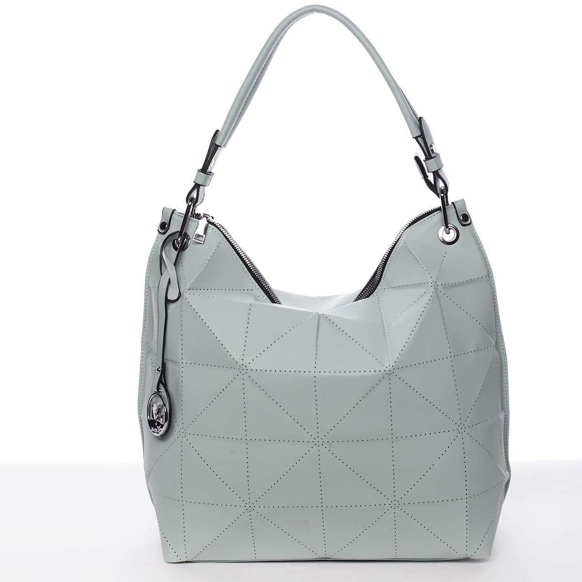 Veľká mentolovozelená luxusná dámska kabelka cez plece - MARIA C Samira