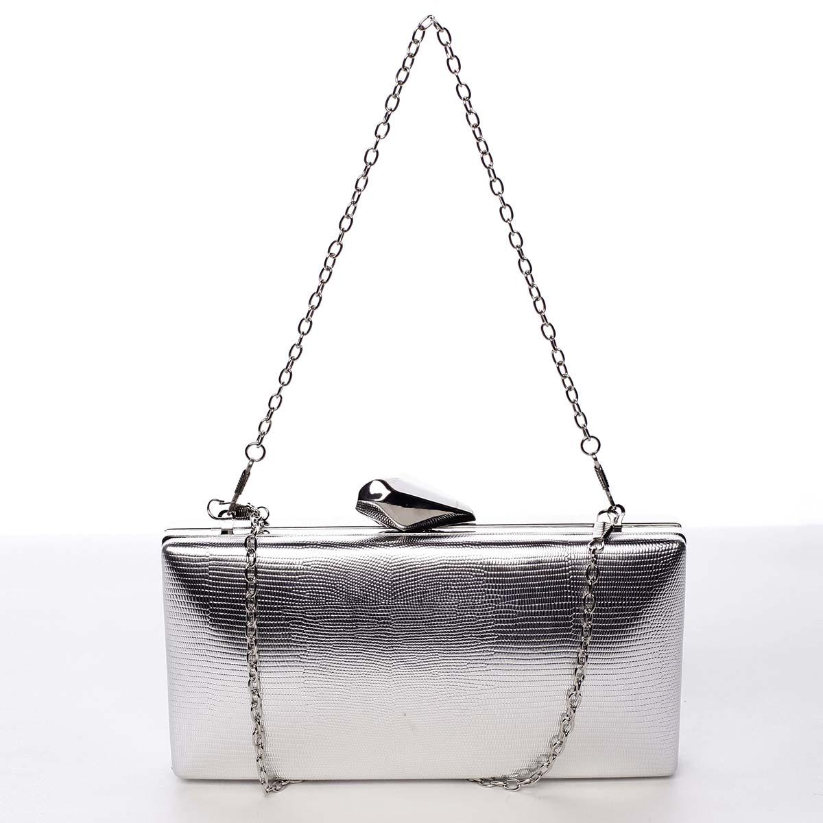 Dámská listová kabelka strieborná - Michelle Moon Elegance