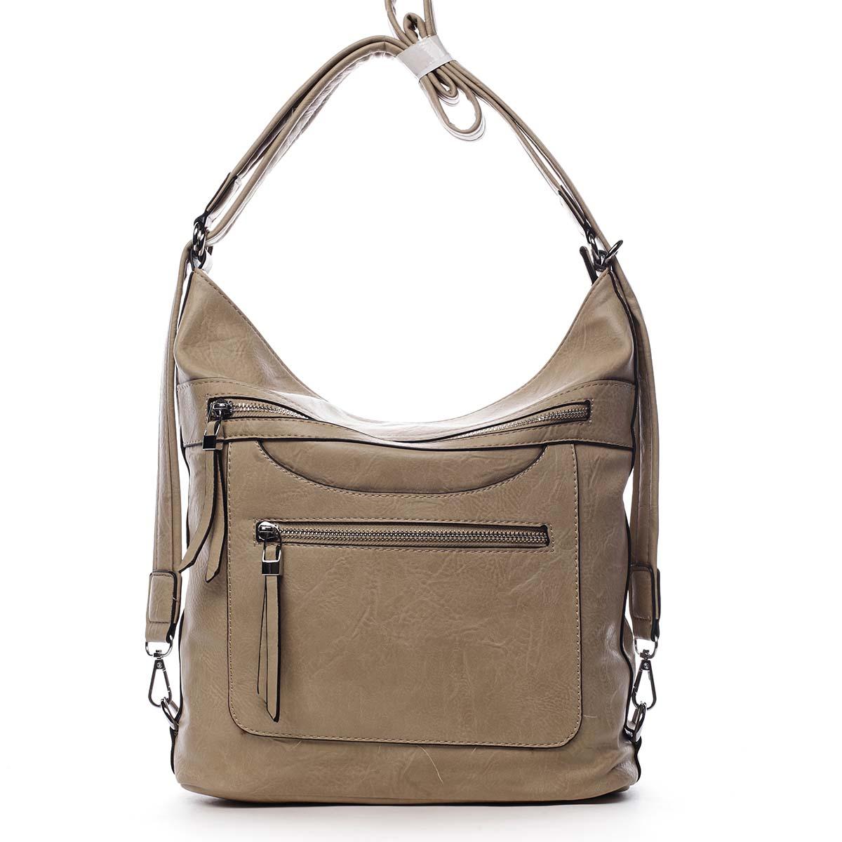 Dámska kabelka batoh béžová - Romina Pamila