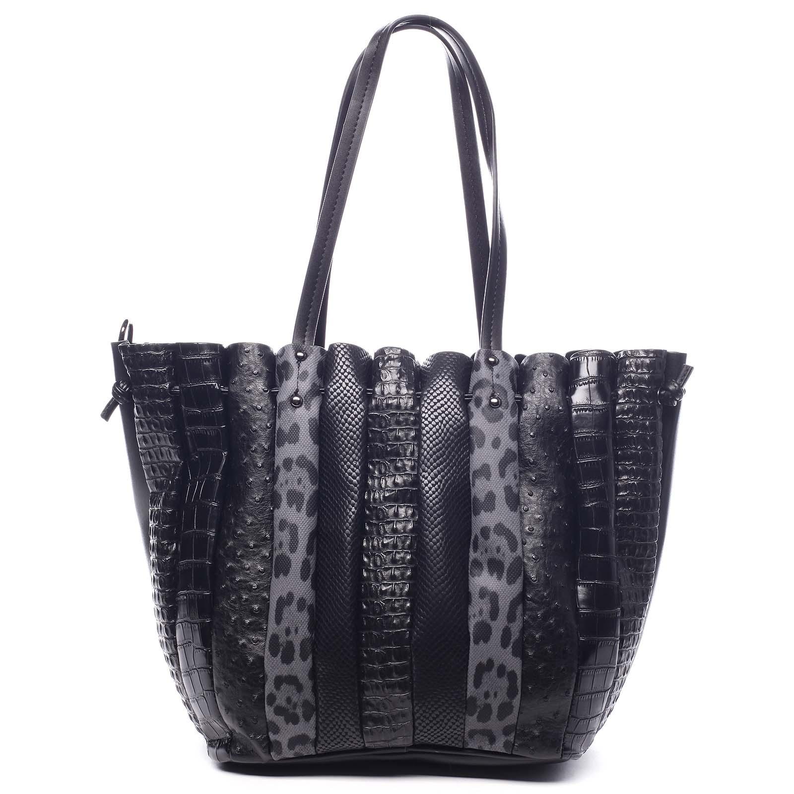 Dámska kabelka cez plece čierna - Dudlin Tola