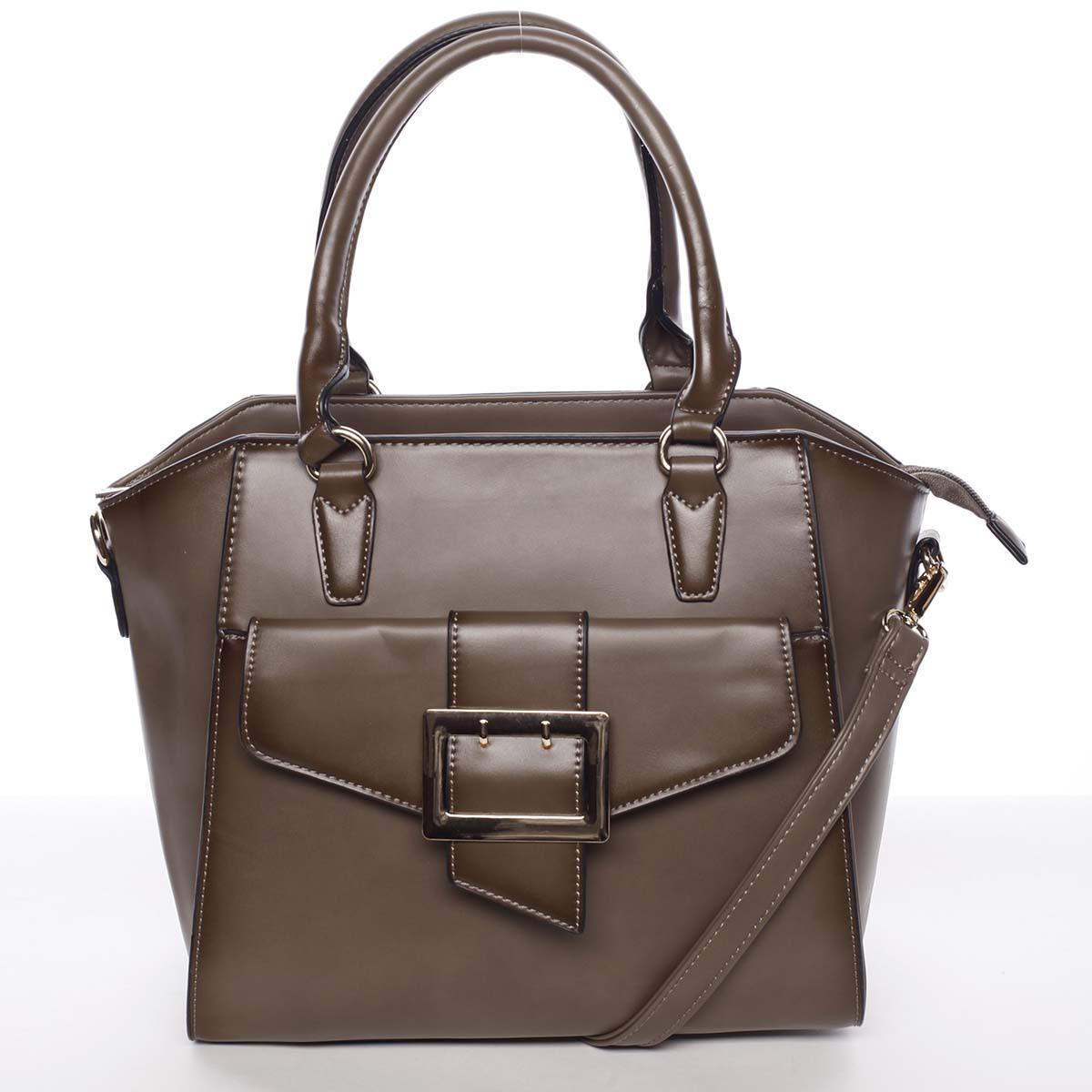 Luxusná dámska khaki kabelka cez rameno - MARIA C Thia