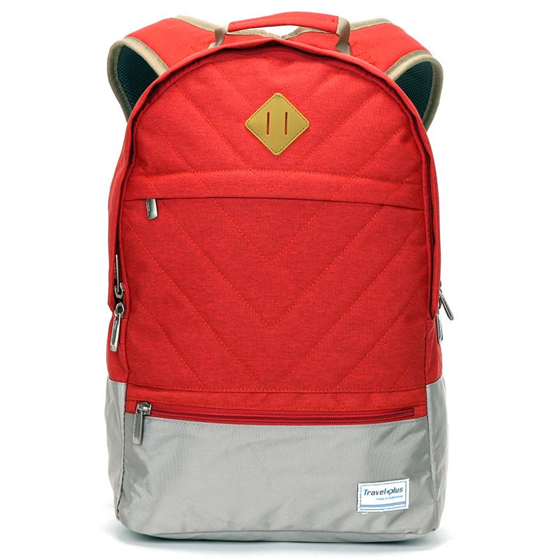 Moderný červený školský a cestovný ruksak - Travel plus 0617