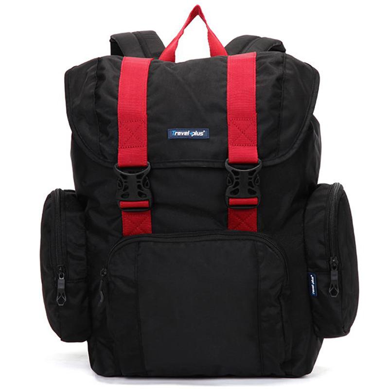 Veľký čierno červený cestovný batoh - Travel plus 7503