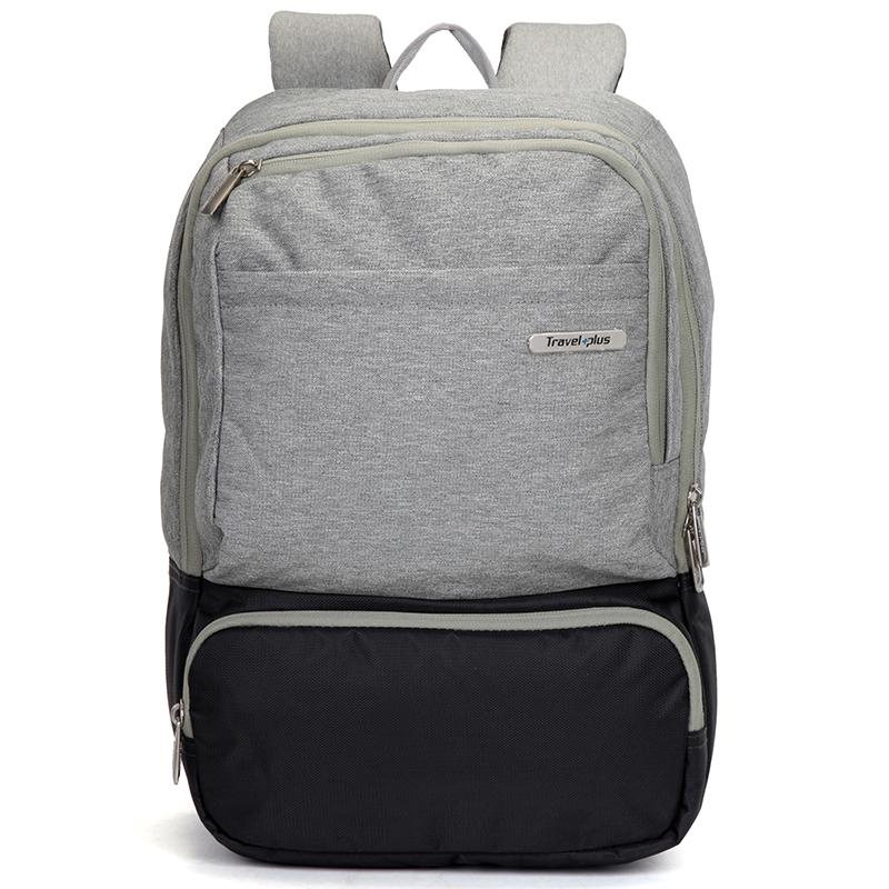 Módny cestovný sivý batoh - Travel plus 7506