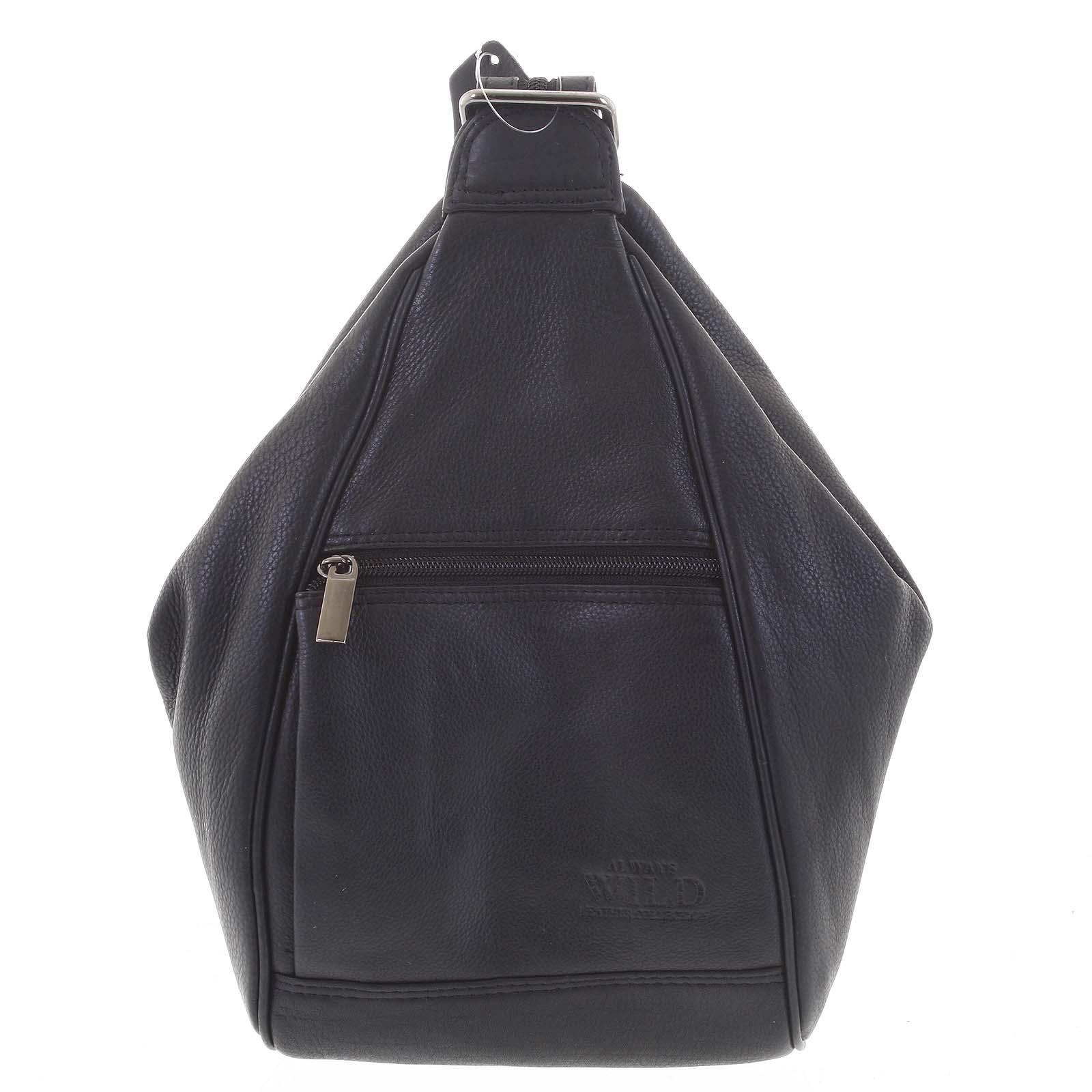 Dámsky kožený batôžtek čierny - WILD Queen
