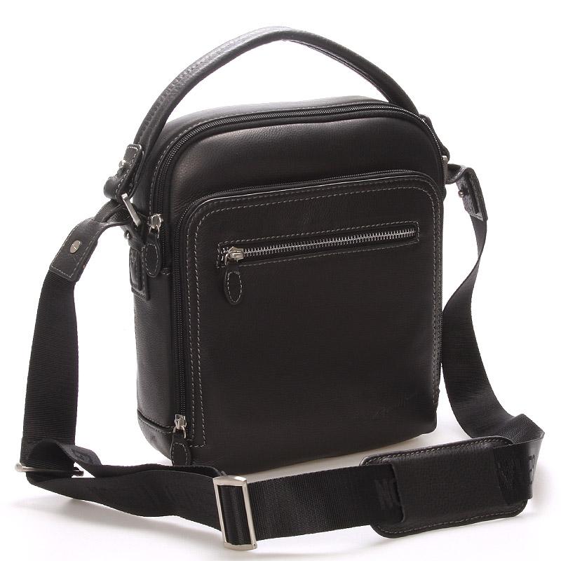 Luxusná pánska kožená taška čierna - Gerard HENON Patrick čierna