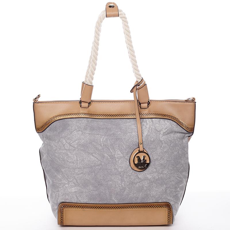 Jedinečná dámska kabelka cez rameno šedá - MARIA C Janelle šedá