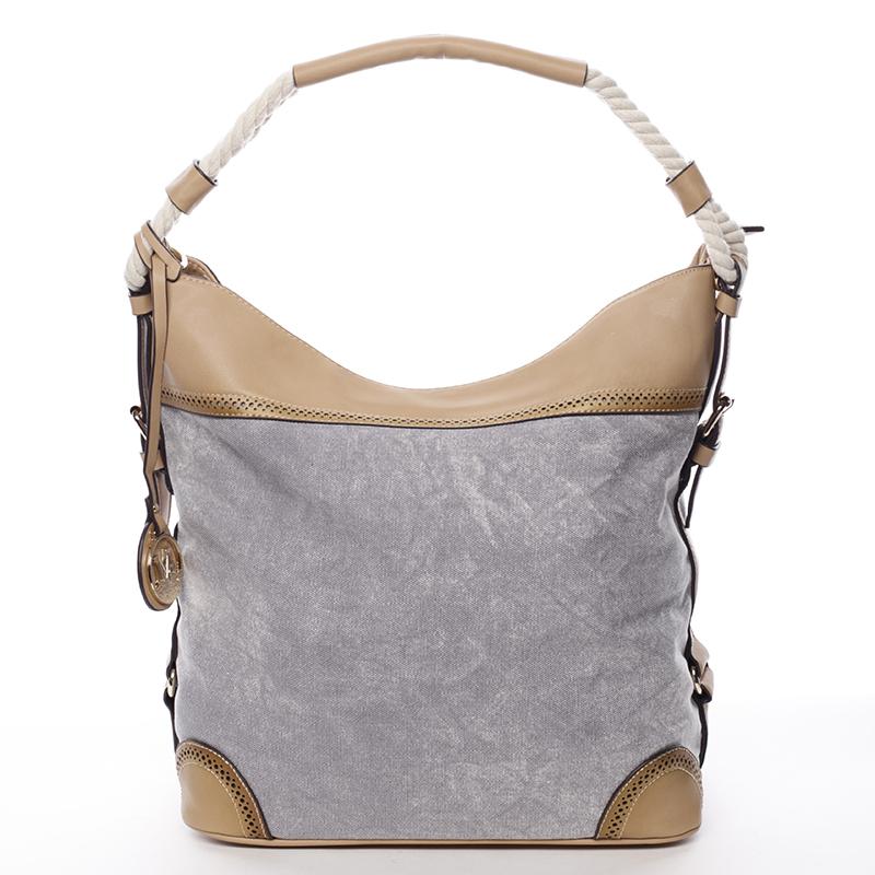 Veľká atraktívna kabelka cez rameno šedá - MARIA C Mimis šedá