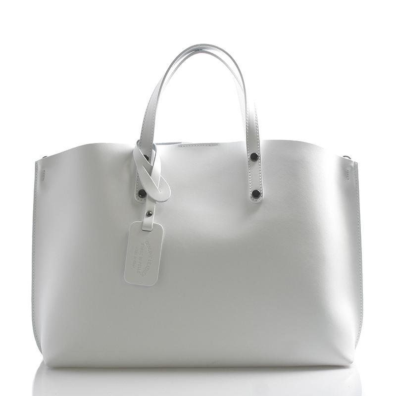 Dámska kožená kabelka biela - ItalY Jordana biela