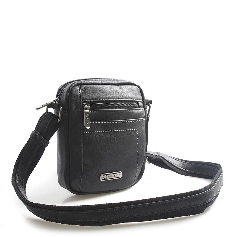 Čierna taška cez rameno na doklady Bellugio Cash čierna