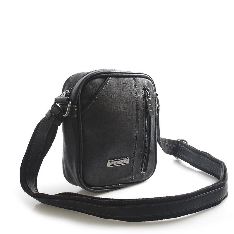 Čierna taška cez rameno na doklady Bellugio Tango čierna