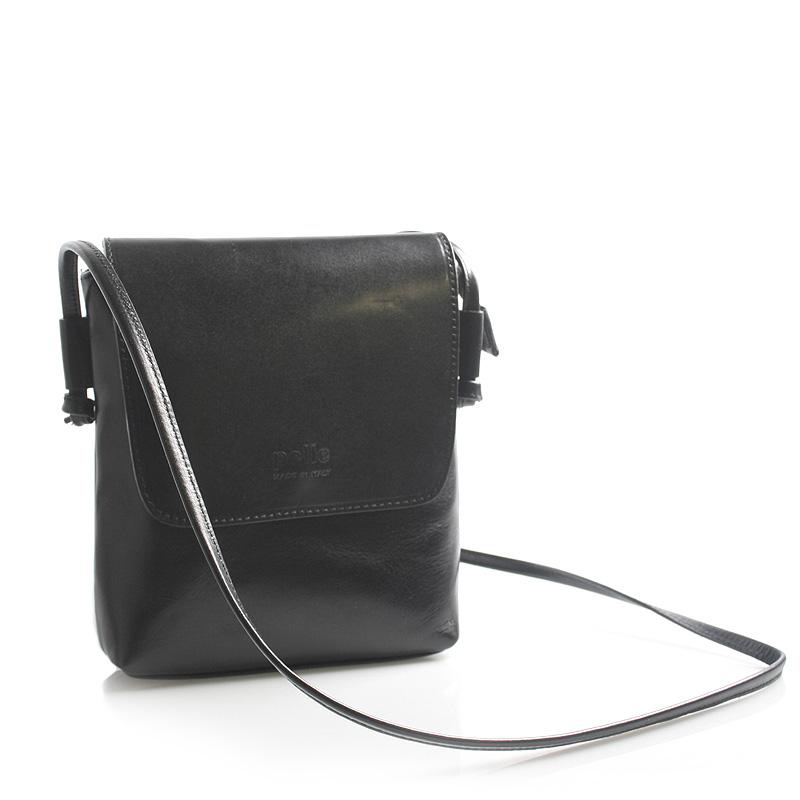 Čierna kožená crossbody kabelka ItalY Tamia čierna