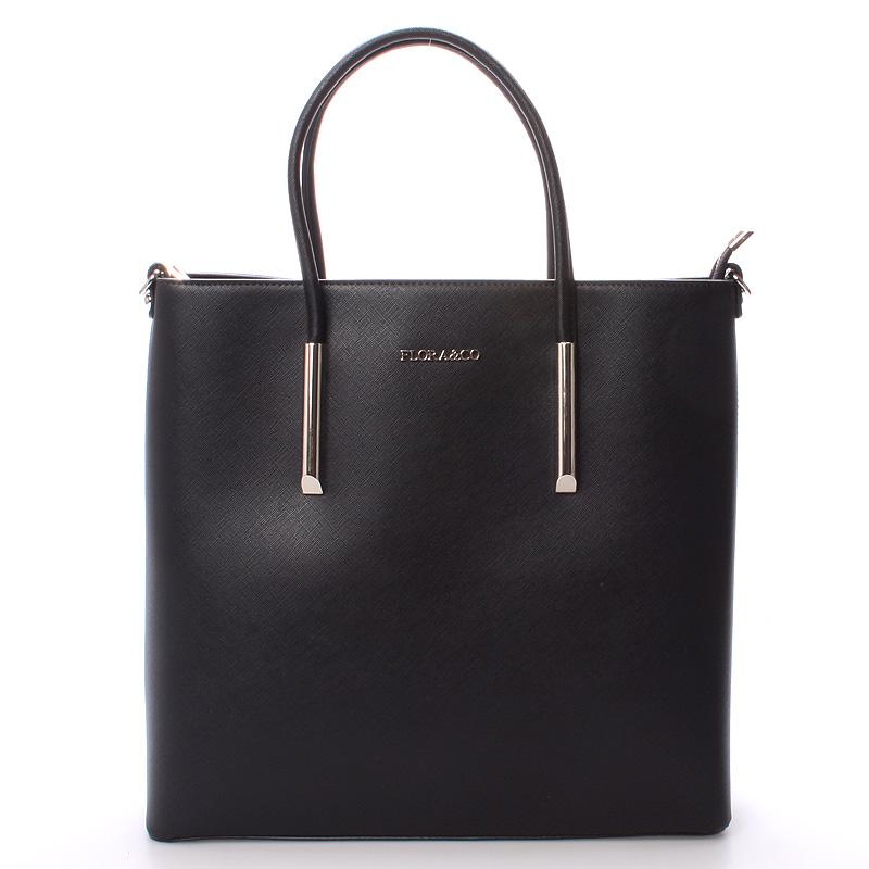 Luxusná dámska kabelka čierna - FLORA&CO Paris čierna