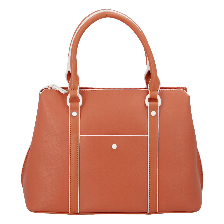 Dámska kabelka do ruky oranžová - DIANA & CO Cerendy oranžová